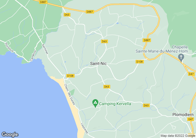 Map for SAINT NIC, Bretagne