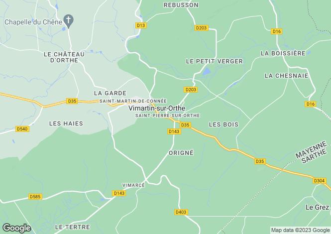 Map for St-Pierre-sur-Orthe, Mayenne, Pays de la Loire