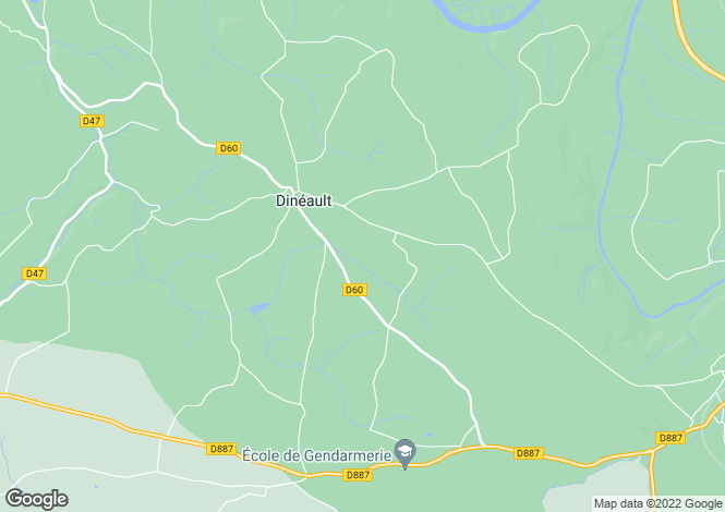 Map for Brittany, Finistère, Dinéault