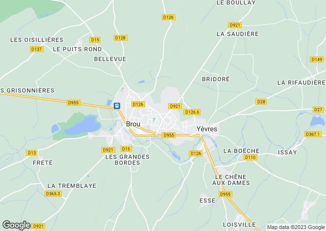 Map for Centre, Eure-et-Loir, Brou
