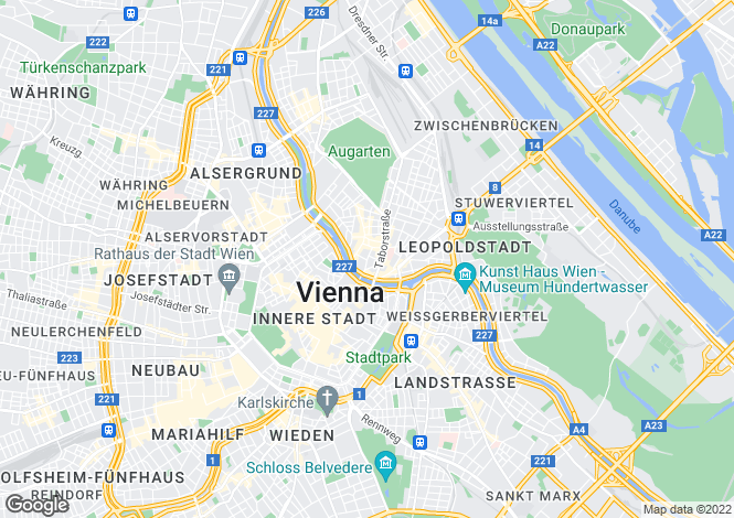 Map for Vienna