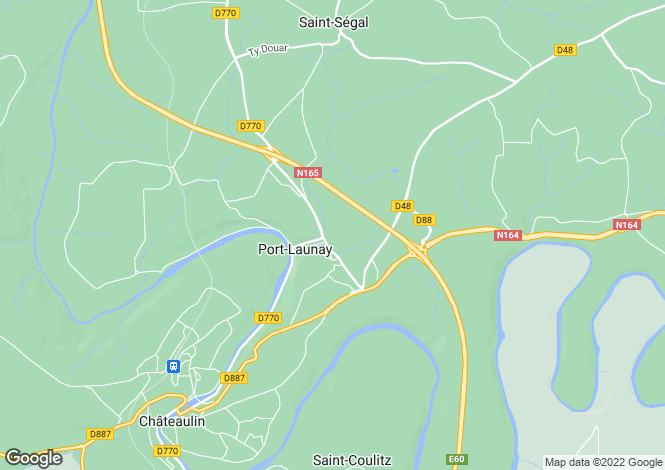 Map for port-launay, Finistère, France