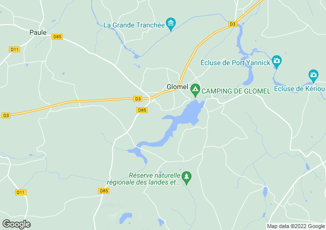 Map for Glomel ,Brittany ,France