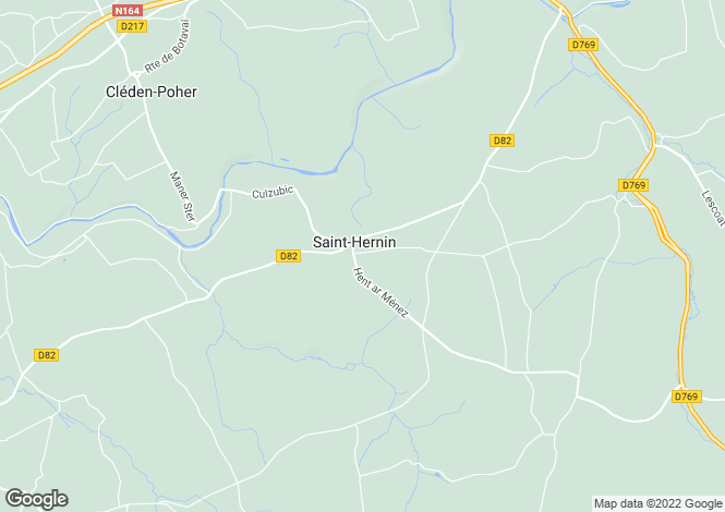 Map for st-hernin, Finistère, France