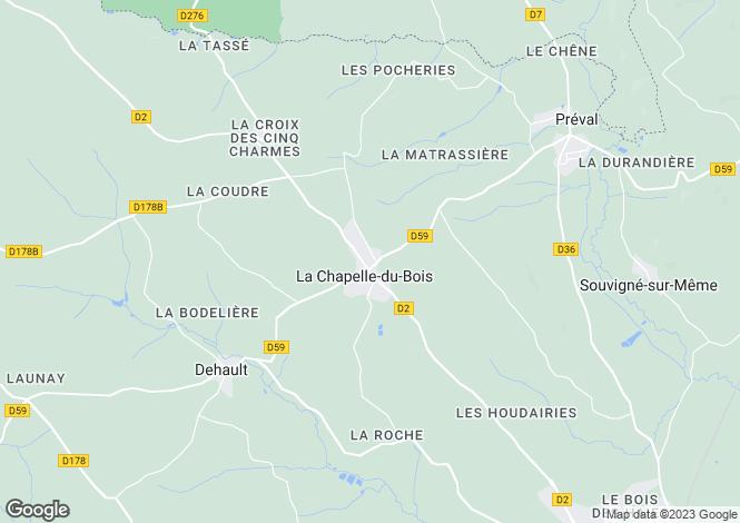 Map for la-chapelle-du-bois, Sarthe, France