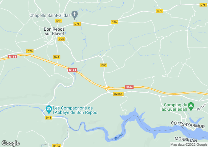 Map for st-gelven, Côtes-d'Armor, France