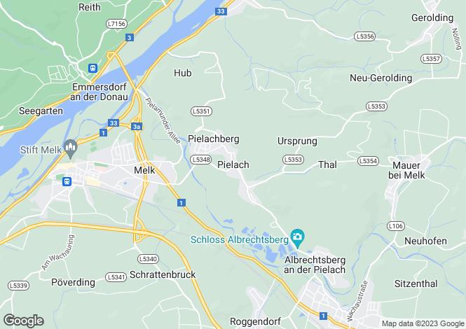 Map for Niederösterreich, Melk, Melk, Austria