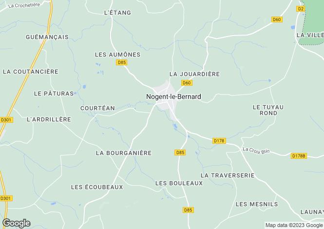 Map for nogent-le-bernard, Sarthe, France