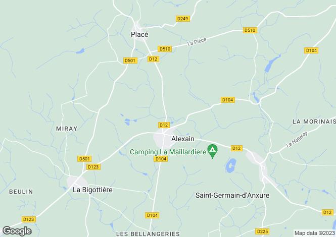 Map for Alexain ,Pays de la Loire ,France