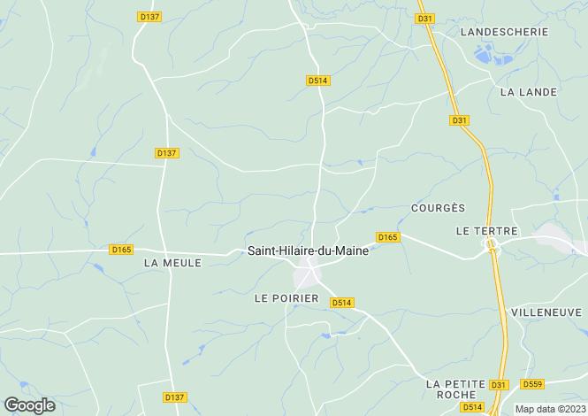Map for Saint-Hilaire-du-Maine, 53380, France