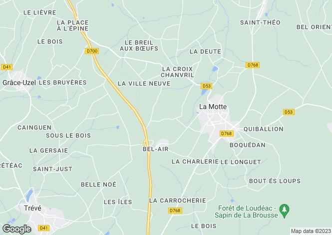 Map for la-motte, Côtes-d'Armor, France