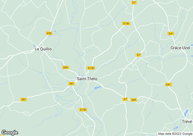 Map for st-thelo, Côtes-d'Armor, France