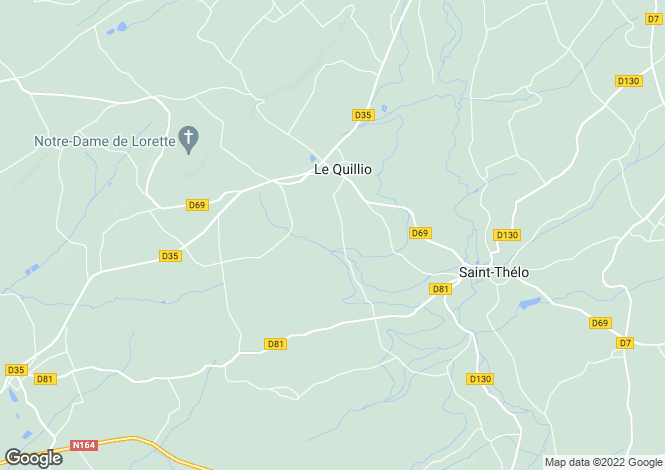 Map for Le Quillio, Côtes-d`Armor, Brittany