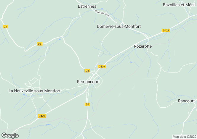 Map for Lorraine, Vosges, Remoncourt