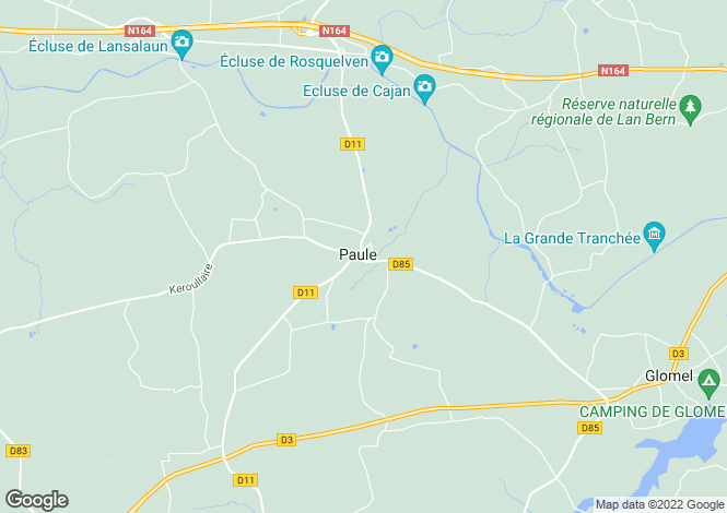 Map for Paule ,Brittany ,France