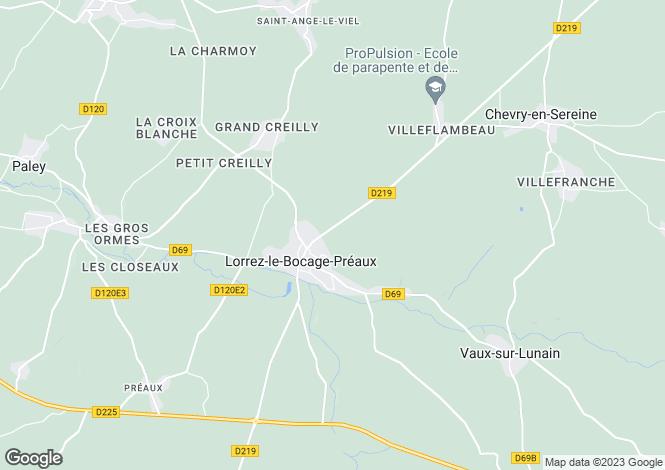 Map for Lorrez-le-Bocage-Préaux, Seine-et-Marne, Paris-Isle of France