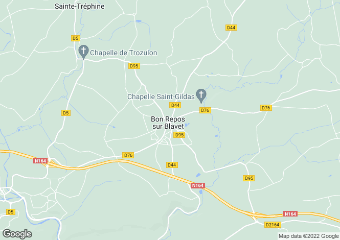 Map for Brittany, Côtes-d'Armor, Laniscat