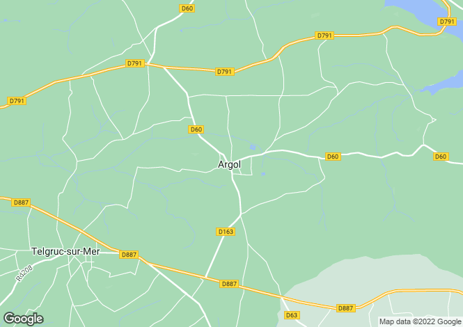 Map for Brittany, Finistère, Argol