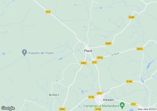 Map for Placé ,Pays de la Loire ,France