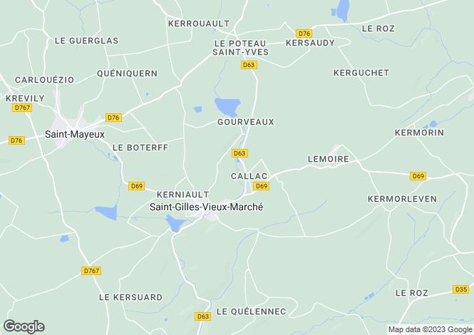Map for st-gilles-vieux-marche, Côtes-d'Armor, France