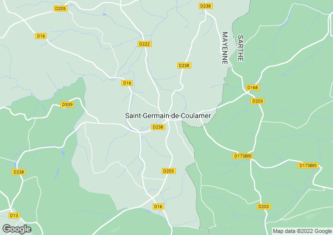 Map for st-germain-de-coulamer, Mayenne, France