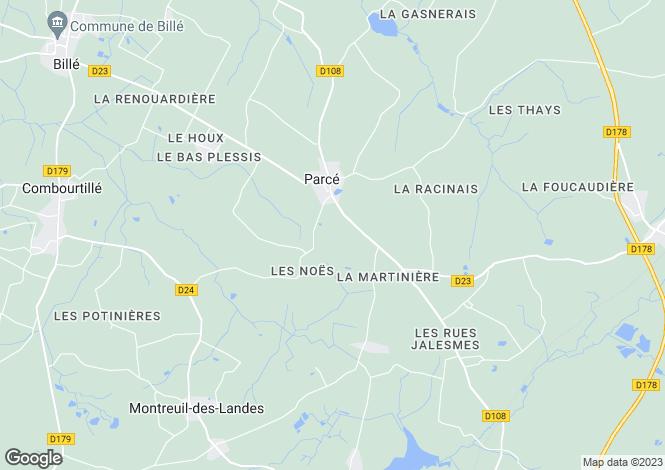 Map for Parce, Ille-et-Vilaine, 35210, France