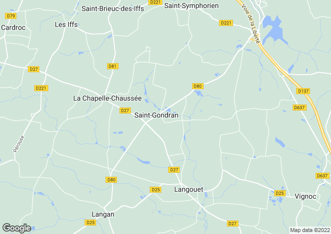 Map for st-gondran, Ille-et-Vilaine, France