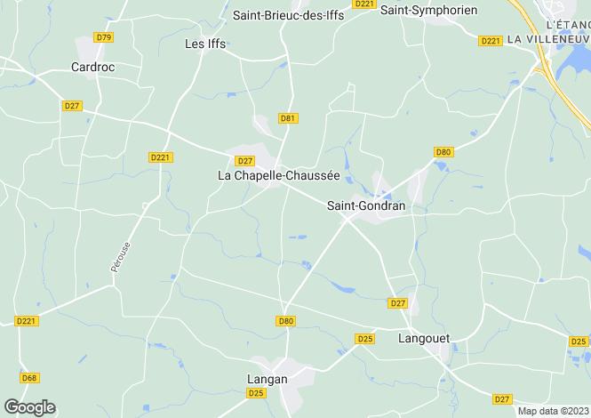 Map for LA CHAPELLE CHAUSSEE, Bretagne