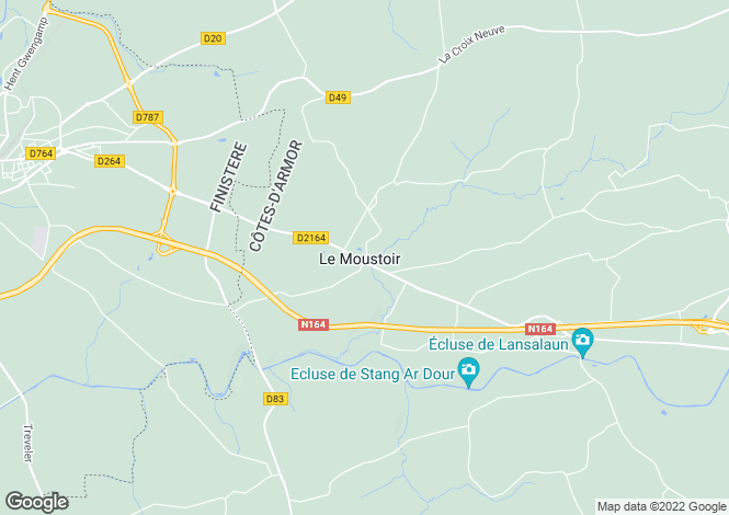 Map for Le Moustoir ,Brittany ,France