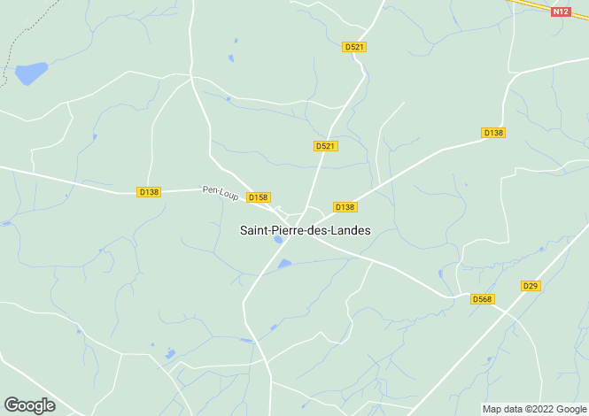 Map for Saint-Pierre-des-Landes ,Pays de la Loire ,France
