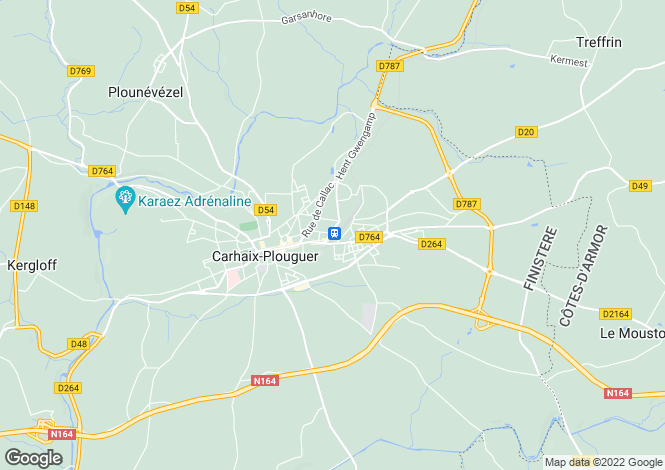 Map for carhaix-plouguer, Finistère, France