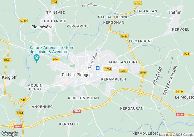 Map for CARHAIX PLOUGUER, Bretagne