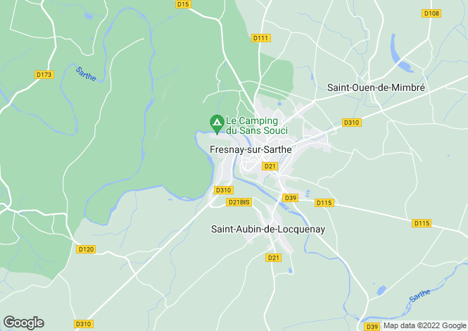 Map for fresnay-sur-sarthe, Sarthe, France