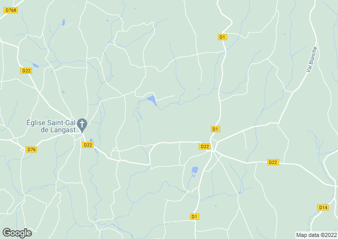 Map for Plessala, Bretagne, 22330, France