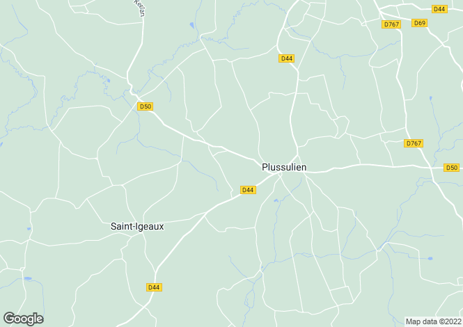 Map for Plussulien ,Brittany ,France