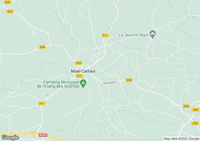 Map for Maël-Carhaix ,Brittany ,France