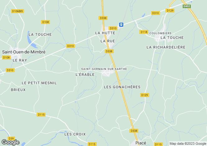 Map for st-germain-sur-sarthe, Sarthe, France