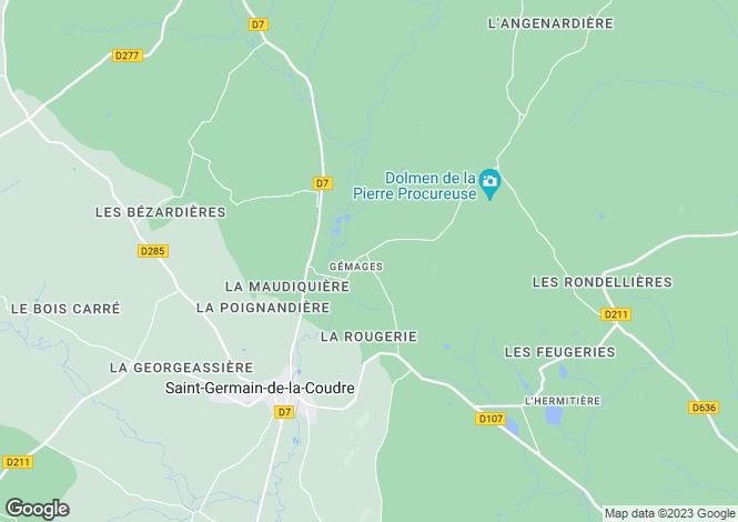 Map for gemages, Orne, France