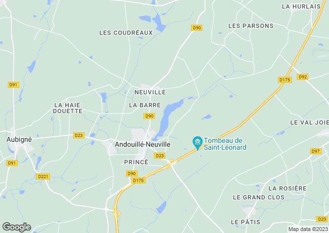 Map for Brittany, Ille-et-Vilaine, Andouillé-Neuville