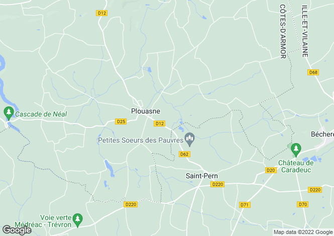 Map for Brittany, Côtes-d'Armor, Plouasne
