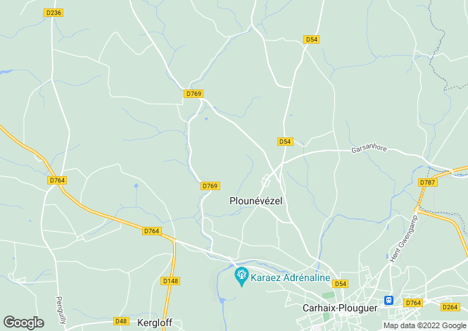 Map for Plounévézel ,Brittany ,France