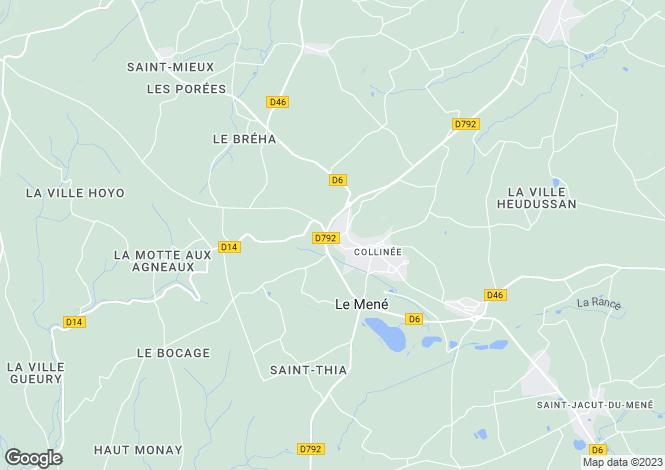 Map for Le Gouray, Cotes d'Armor