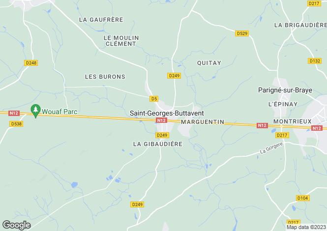 Map for Saint-Georges-Buttavent ,Pays de la Loire ,France