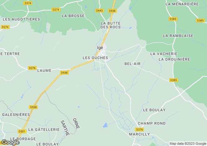 Map for ige, Orne, France