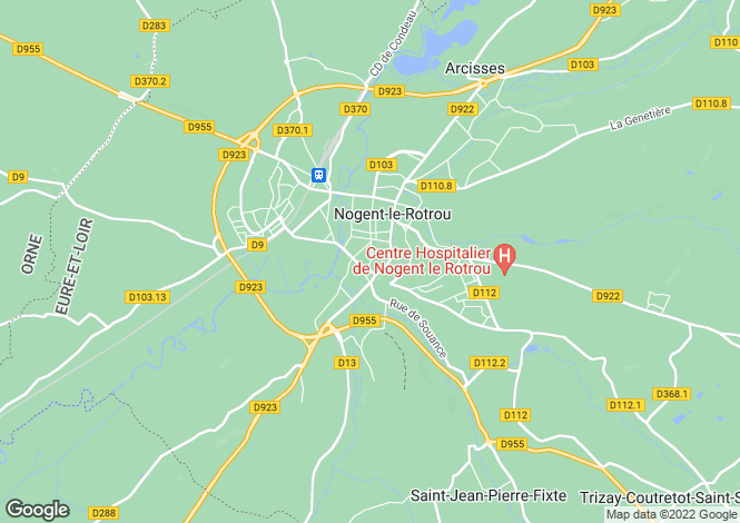 Map for nogent-le-rotrou, Eure-et-Loir, France