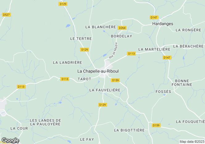 Map for La Chapelle-au-Riboul, Mayenne, 53440, France