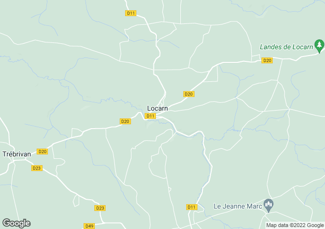 Map for locarn, Côtes-d'Armor, France