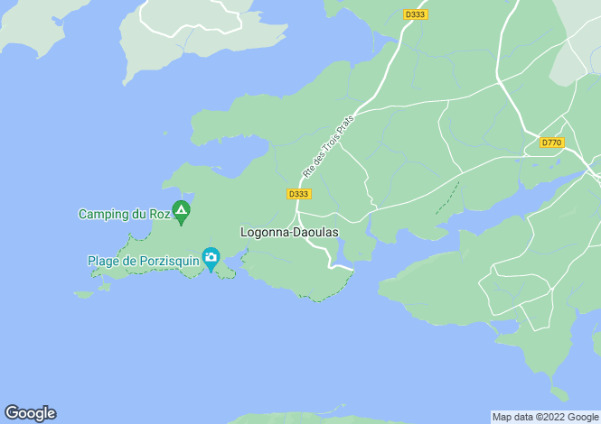 Map for logonna-daoulas, Finistère, France