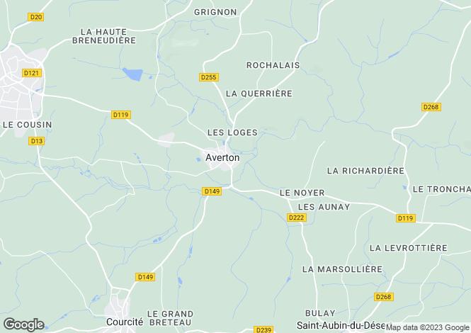 Map for Averton, Mayenne, Pays de la Loire