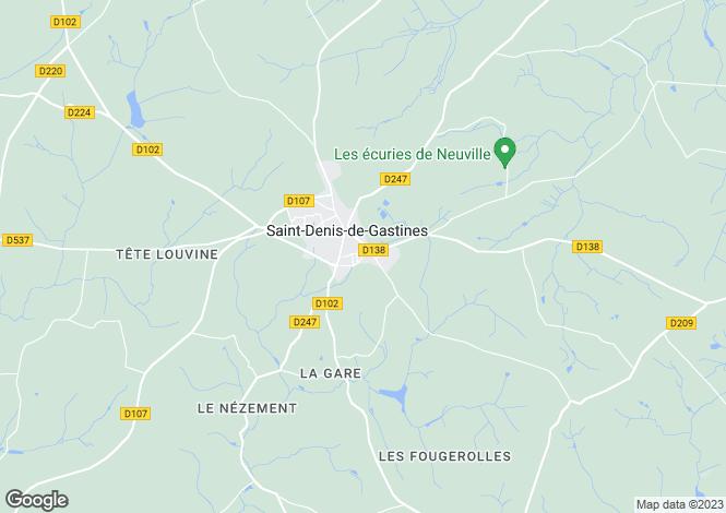 Map for Saint-Denis-de-Gastines ,Pays de la Loire ,France